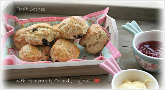 Fruit Scones and Jam